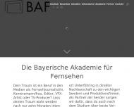 Bild Webseite Bayerische Akademie für Fernsehen BAF Unterföhring