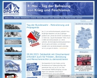 Bild Webseite Deutsche Friedensgesellschaft Vereinigte Kriegsdienstgegner Düsseldorf