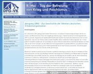 Website Deutsche Friedensgesellschaft Vereinigte Kriegsdienstgegner