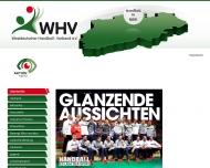 Bild Webseite Westdeutscher Handballverband (WHV) Düsseldorf