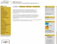 Bild Webseite ADM Arbeitskreis Deutscher Marktforschung- und Sozial forschungsinstitut Frankfurt