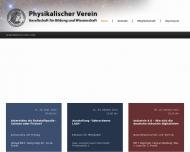 Bild Webseite Physikalischer Verein Frankfurt