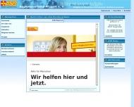 Bild Webseite Arbeiter-Samariter-Bund Regionalverband Altmark Tangerhütte