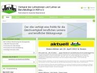Bild Webseite Verband der Lehrer an Wirtschaftsschulen und Kollegschulen in Nordrhein-Westfalen Düsseldorf