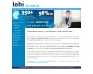 Website Lohnsteuerhilfe Bayern