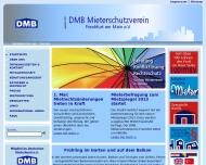 Bild Webseite Mieterberatung Mietangelegenheiten DMB Mieterschutzverein Frankfurt am Main Frankfurt