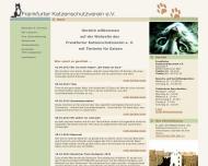 Bild Webseite Frankfurter Katzenschutzverein Frankfurt