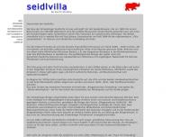 Website Seidlvilla Kulturzentrum in Schwabing