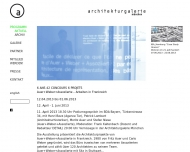 Website Architekturgalerie