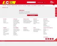 Website ACE Auto Club Europa e. V. Vertriebszentrum Düsseldorf