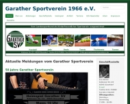 Bild Webseite Garather Sportverein 1966 Düsseldorf