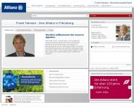 Bild Webseite Hansen Frank Versicherungsfachwirt Flensburg
