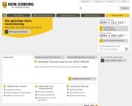 Bild Webseite HUK-COBURG Kundendienstbüro Frehrs Hamburg