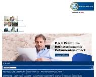 Bild Webseite DAS Versicherungen Bezirksdirektion Hamburg