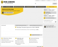 Bild Webseite HUK-COBURG Kundendienstbüro Marina Schimanski Hamburg