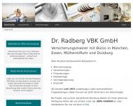 Website Dr. Radberg VBK