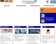 Bild Webseite Conzepta's Assekuranzmakler München