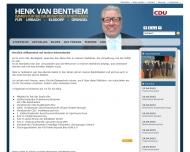 Bild Webseite van Benthem Henk Köln