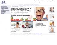 Bild Webseite CONTINENTALE VERSICHERUNG Hamburg