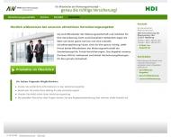 Bild Webseite VBV Versicherungsmakler und Beteiligungsverwaltung Hamburg
