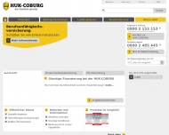 Bild Webseite HUK Coburg Versicherungen, Bausparen, Vertrauensmann Frank Nitzsche Versicherungsagentur Köln