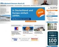 Website R + V Versicherung Agentur Volksbank Bremen-Nord