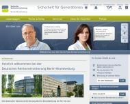 Bild Webseite Deutsche Rentenversicherung Berlin-Brandenburg Berlin