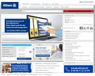 Bild Webseite Allianz Hauptvertretung Burghard Schaumann Versicherungsagentur Berlin