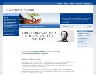 Bild Webseite G.A.Droege & Sohn Berlin