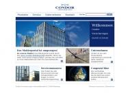 Bild Webseite Condor Versicherungen Allgemeine Versicherungs Hamburg