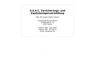 Bild Webseite A.A.A.C. - Versicherung und Kapitalanlageverm. - Jürgen Teßner - Berlin
