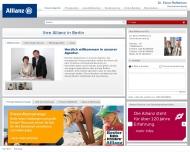 Bild Webseite Pfefferkorn Elvira Dr. Allianz Generalvertretung Berlin