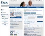Bild Webseite IDEAL Lebensversicherung a.G. Berlin