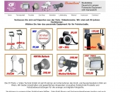 Bild Webseite CF Photo + Video Technik Vertriebsgesellschaft Köln