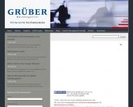 Bild Webseite Grüber Werbeagentur Frankfurt