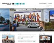 Bild Webseite BlowUP Aussenwerbung Düsseldorf
