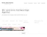 Bild Webseite Dewitz, Selzer, Partner Werbeagentur Düsseldorf