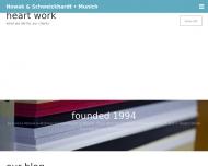 Bild Webseite Nowak & Schweickhardt Marketingkommunikation München