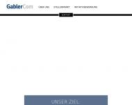 Bild Webseite GablerCom Personal- und Unternehmensberatung München