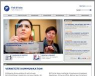 Bild Webseite Fink & Fuchs Public Relations München