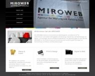 Bild Webseite MIROWEB Köln