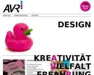 Bild Webseite AVR Agentur für Werbung u. Produktion München