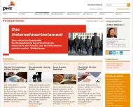 Bild Webseite PricewaterhouseCoopers München