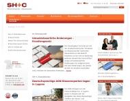 Bild Webseite SH+C Schwarz Hempe & Collegen München