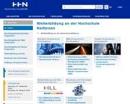 Bild Webseite Heilbronner Institut für Lebenslanges Lernen gemeinnützige Heilbronn