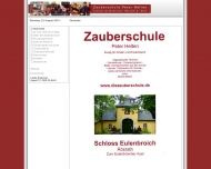 Website Zauberschule Schloss Eulenbroich