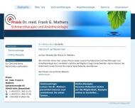 Bild Webseite Dr. med. Frank G. Mathers Köln