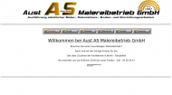 Bild Webseite Aust AS Malereibetrieb Berlin