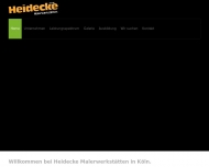 Bild Webseite HEIDECKE MALERWERKSTÄTTEN Gesellschaft Köln
