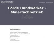 Website Förde Handwerker - Maler und Lackierer